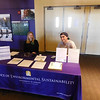 UAlbany Students present their posters on clean energy during the Power Dialog event.