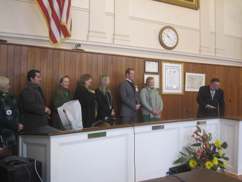 Mayor Winthrop and Newport & Irish Dignitaries