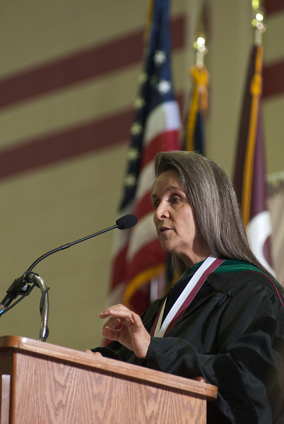 Commencement Speaker Dr Leanna Scott Timperley Makes A Point During Her Speech At Chadron