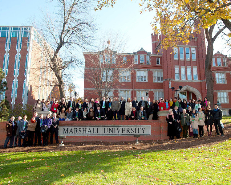 More than 20 countries are represented by the visitors to Marshall University's Huntington campus Nov. 15.