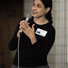 Dr. Monika Sawhney talks to students about the Child Obesity Awareness Campaign May 19 at Highlawn Elementary School. Sawhney has conducted research on child and maternal health for more than a year and hopes to implement this research in the Marshall University undergraduate department of public health. Photo Credit: Lori Wolfe/The Herald-Dispatch.