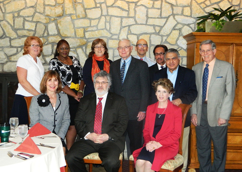 "Marshall University's Joan C. Edwards School of Medicine has established an advisory board.  Front row – Linda Holmes, director, development and alumni affairs, Dr. Joseph Shapiro, dean, Tammy White, chair. Back row – Monica Hatfield, Dr. Shari Clarke, Dr. Paulette Wehner, president, SOM Alumni Association, Dr. Maurice Mufson, Dr. Joseph Assaley, Steven Shattls, Dr. Dev Rellan, Dr. Charles  ""Skip"" Turner. Not in the picture are Sharon Ambrose, Dr. Mark Sheridan, chair-elect, Dr.  Omayma Touma and Joan Weisberg. Photo by Leah C. Payne, Marshall University."