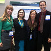 Graduate students Emma McCullough, Frances Elvins and Emma Searls stand with Professor Craig Coleman during the 2013 ASHA Convention. This group served as a research team studying tele-therapy and the effects on a 19-year-old who stutters. There were a total of 37 students from Marshall University who presented research at the convention this year.
