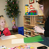 Emily York works with her speech therapist Emily Rowe twice a week at the Marshall University Speech and Hearing Center through the Department of Communication Disorders.