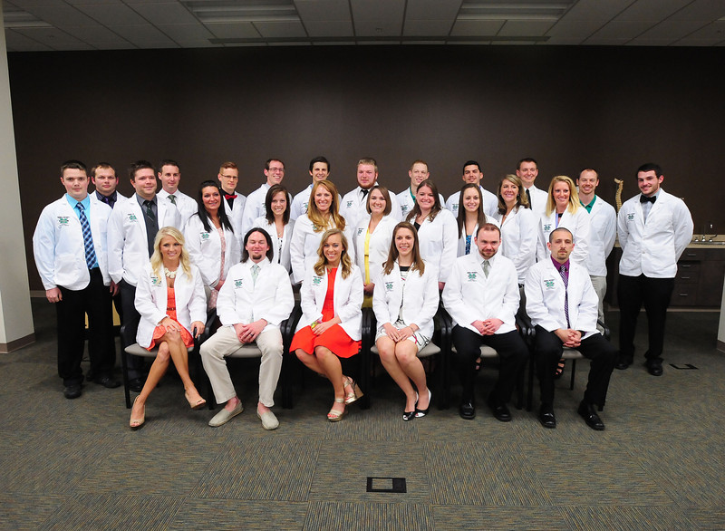 Twenty-seven students received their white coats on May 3, 2013, marking their transformation from student to clinical intern. These students will be the first class to graduate from the Marshall University School of Physical Therapy in May 2015.