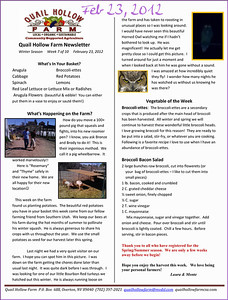 Latest news and photos from Quail Hollow Farm CSA Moapa Valley community supported agriculture Contact Laura and Monte Bledsoe at 702-397-2021 Email quailhollowfarm@mvdsl.com Visit Quail Hollow Farm website ww.quailhollowfarmcsa.com Photographs in this public online gallery free downloads for Quail Hollow Farm by Mark Bowers of ReallyVegasPhoto.com