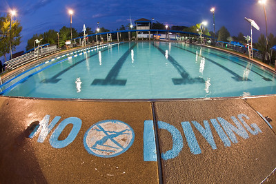 """An empty pool after the """"Last Splash"""" at the Highlands Park Pool held Saturday July 31, 2010 in Westerville, Ohio.  The pool closed early for the season for a complete demolition and re-construction.  The new facility is expected to open on Memorial Day 2011."""