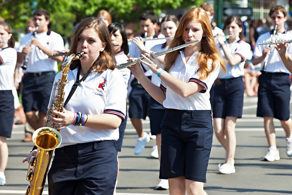 The Thomas Worthington High School band marches during the Worthington Memorial Day Parade held Monday May 30, 2011 on High Street in downtown Worthington.