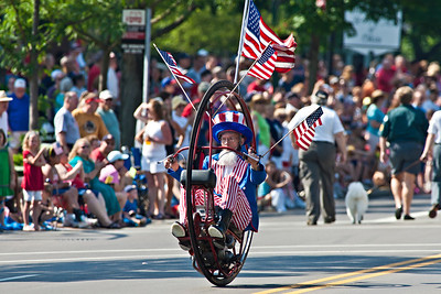 A motorized wheel during the Worthington Memorial Day Parade held Monday May 30, 2011 on High Street in downtown Worthington.