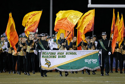 Seaford High School performs at the 53rd annual Newsday Marching Band Festival at Mitchel Field Athletic Complex in Uniondale, Oct 15, 2015