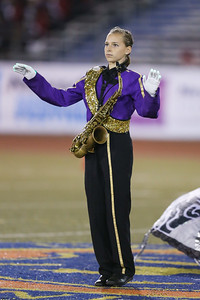Islip High School Marching Band performs at the 54th Annual Newsday Marching Band Festival at Mitchel Field Athletic Complex in Uniondale, October 20, 2016