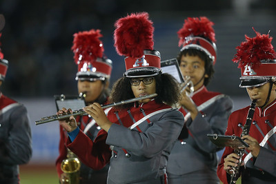 Amityville High School performs at the 55th Annual Newsday Marching Band Festival at Mitchel Field Athletic Complex in Uniondale, October 17th, 2017