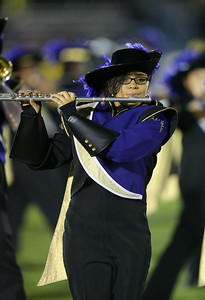 Central Islip High School performs at the 55th Annual Newsday Marching Band Festival at Mitchel Field Athletic Complex in Uniondale on Thursday, Oct. 19, 2017. (Credit: Chris Bergmann)
