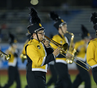 Commack High School performs at the 55th Annual Newsday Marching Band Festival at Mitchel Field Athletic Complex in Uniondale on Wednesday, Oct. 18, 2017. (Credit: Chris Bergmann)