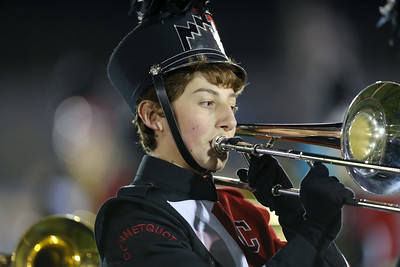 Connetquot High School performs at the 55th Annual Newsday Marching Band Festival at Mitchel Field Athletic Complex in Uniondale on Thursday, Oct. 19, 2017. (Credit: Chris Bergmann)