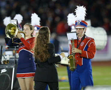 General Douglas MacArthur High School performs at the 55th Annual Newsday Marching Band Festival at Mitchel Field Athletic Complex in Uniondale on Thursday, Oct. 19, 2017. (Credit: Chris Bergmann)