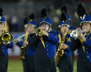 Massapequa High School performs at the 55th Annual Newsday Marching Band Festival at Mitchel Field Athletic Complex in Uniondale on Wednesday, Oct. 18, 2017. (Credit: Chris Bergmann)