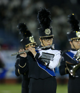 New Hyde Park High School performs at the 55th Annual Newsday Marching Band Festival at Mitchel Field Athletic Complex in Uniondale on Wednesday, Oct. 18, 2017. (Credit: Chris Bergmann)