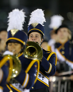 Northport High School performs at the 55th Annual Newsday Marching Band Festival at Mitchel Field Athletic Complex in Uniondale on Thursday, Oct. 19, 2017. (Credit: Chris Bergmann)
