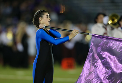 Oceanside High School performs at the 55th Annual Newsday Marching Band Festival at Mitchel Field Athletic Complex in Uniondale on Thursday, Oct. 19, 2017. (Credit: Chris Bergmann)