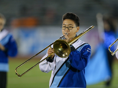 Plainview Old Bethpage-JFK High School performs at the 55th Annual Newsday Marching Band Festival at Mitchel Field Athletic Complex in Uniondale, October 17th, 2017