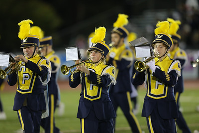 Rocky Point High School performs at the 55th Annual Newsday Marching Band Festival at Mitchel Field Athletic Complex in Uniondale on Thursday, Oct. 19, 2017. (Credit: Chris Bergmann)