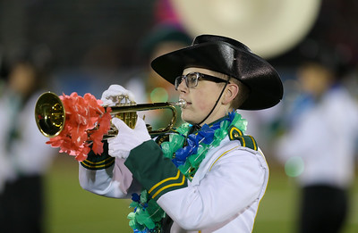 Seaford High School performs at the 55th Annual Newsday Marching Band Festival at Mitchel Field Athletic Complex in Uniondale on Thursday, Oct. 19, 2017. (Credit: Chris Bergmann)