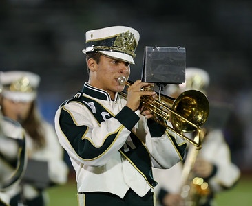 Valley Stream North High School performs at the 55th Annual Newsday Marching Band Festival at Mitchel Field Athletic Complex in Uniondale on Wednesday, Oct. 18, 2017. (Credit: Chris Bergmann)