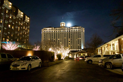 Night view of The Little America Hotel