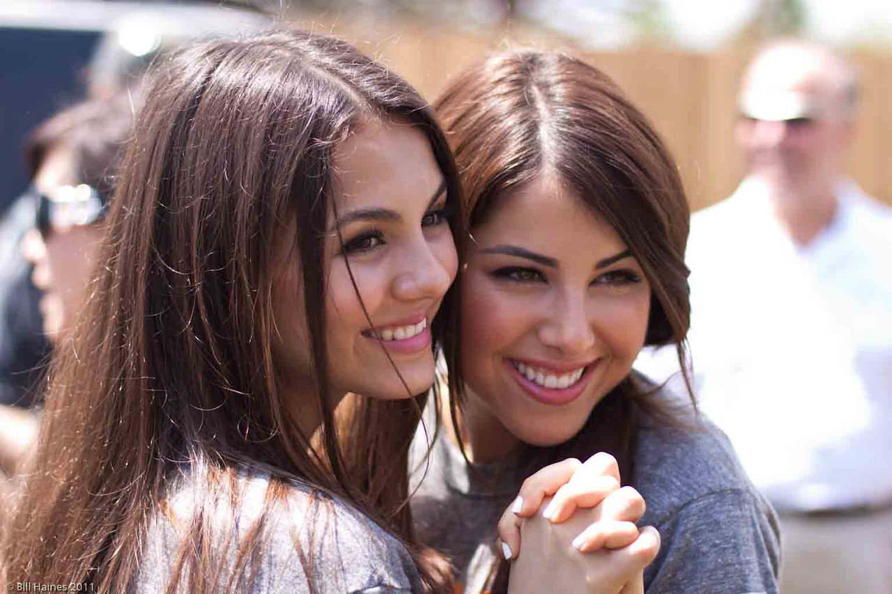 Victoria Justice and Daniella Monet of Nickelodeon fame.