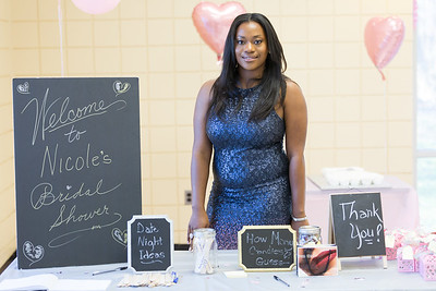 Maid of Honor, Tommeka, welcoming guests to the Bridal Shower.