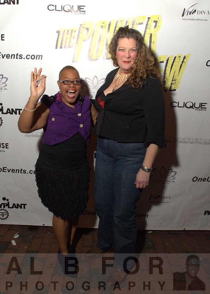 "TS Hawkins (Producer PR Radio Station) and Kim Blacklock (Actress: The Power of Few, Also the worlds 10th tallest women, 6' 5½"" (1.97 m.))"