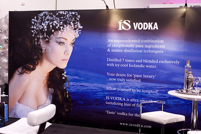 Photographs of IS Vodka Booth for Nightclub and Bar Show at the Las Vegas Convention Center on March 4, 2009, Day 1 of show.