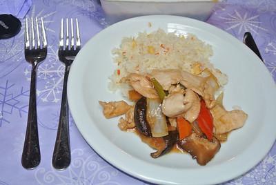 Kip met Chinese Champignons, mmm... mijn ding...