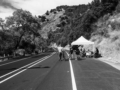 Fremont, CA, USA  Photo from the Niles Canyon Stroll & Roll event. For the event, the section of State Route 84 between Sunol, CA and Fremont, CA is closed down for pedestrians and bikers.