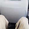With average-height person in front seat, more than adequate leg room in rear.  With taller person, not so much.  Better than I expected.