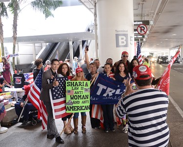 No Sharia Law Rally - LAX