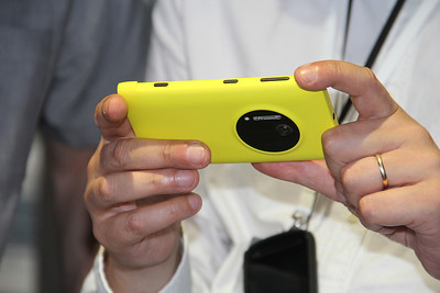 The Lumia 1020 has a 41-megapixel, backside-illuminated camera sensor for better photo-taking.
