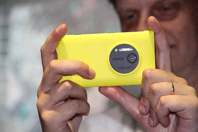Up close and personal with the Nokia Lumia 1020.