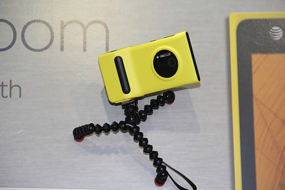 The Nokia Lumia 1020 works with a mount that has a shutter button and a tripod screw, for more serious photogs.