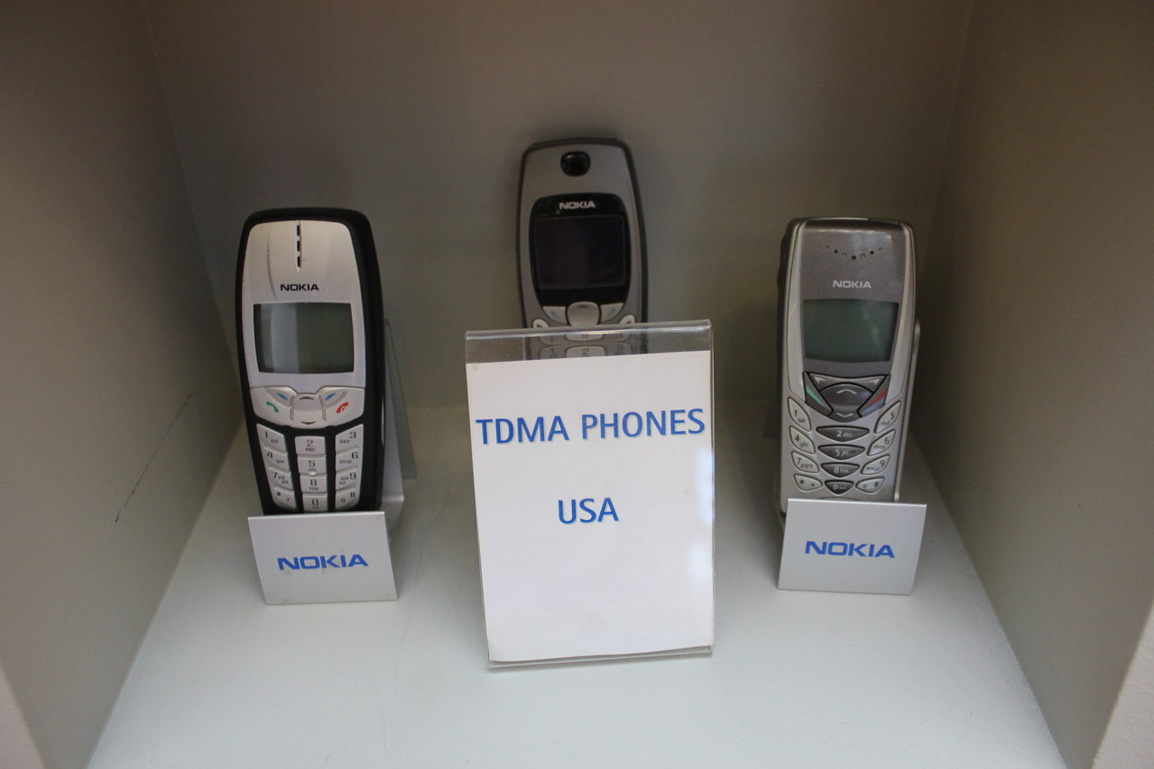Collection of TDMA phones from North America circa 2000