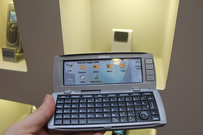 Nokia 9300 Communicator- full keboard, 2 color displays, high speed browser, multiple email clients, up to 2GB memory. 2005