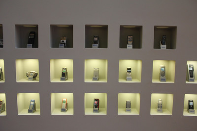 A wall of classic Nokia phones