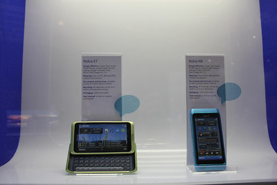 Nokia's current Symbian-based E7 and N8 smartphones.