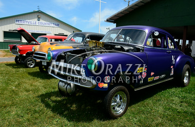 6 /28/2014 Mike Orazzi | Staff Hot rods during the Rumblers Nomads Car Show at the Terryville Fair Grounds on Saturday morning.
