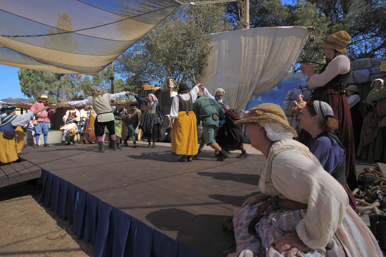Plenty of dancing at the renfaire.