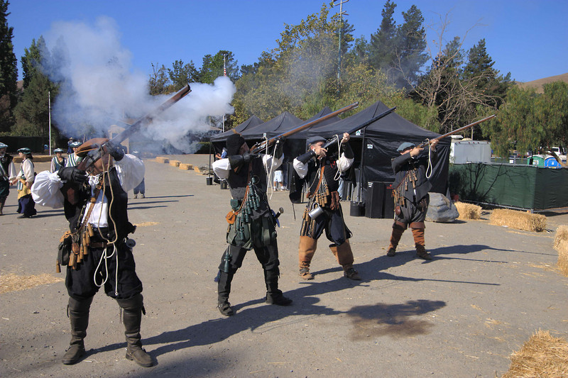 The faire starts off with a bang.  These were very loud; even expecting it, I was startled.