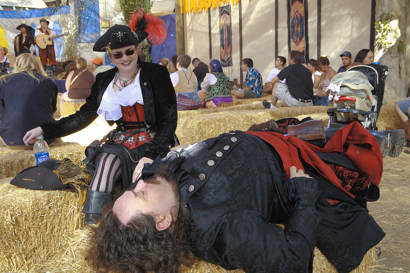 A day of walking around the faire is probably about 3 or 4 miles of walking.