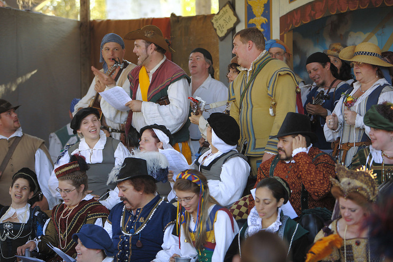 """Last Call"" chorus.  People from all over the faire get together in the last hour of the day for singing."
