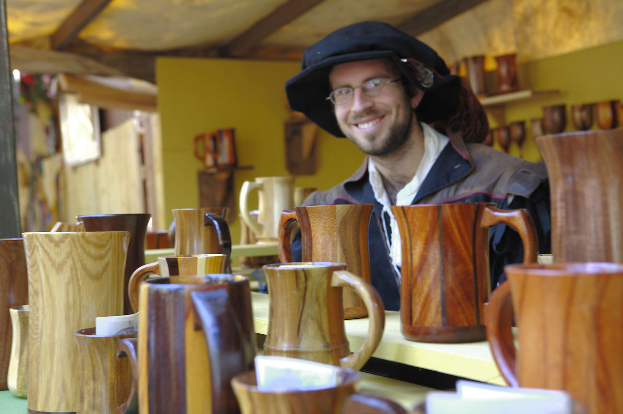 I know its hard to believe, but this guy sells cups! (and wooden goblets)